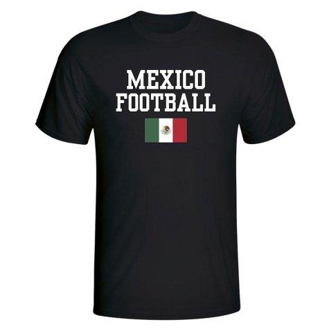 Mexico Football T-Shirt - Black