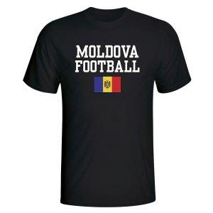 Moldova Football T-Shirt - Black