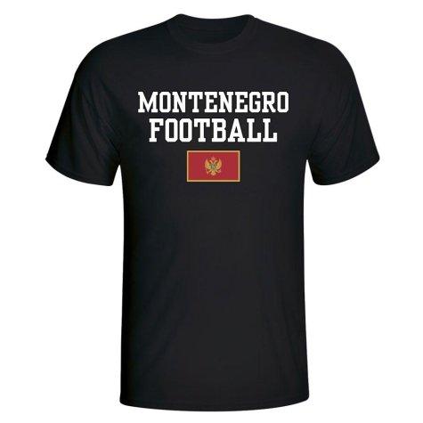 Montenegro Football T-Shirt - Black