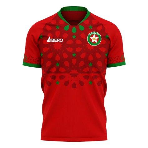 Morocco 2020-2021 Away Concept Football Kit (Libero) - Kids