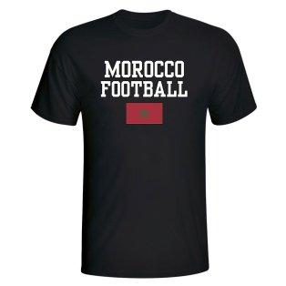 Morocco Football T-Shirt - Black