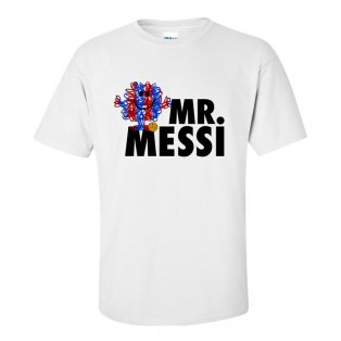 Lionel Messi Mr Messi T-Shirt (White)