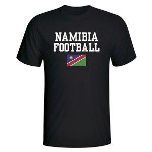 Namibia Football T-Shirt - Black