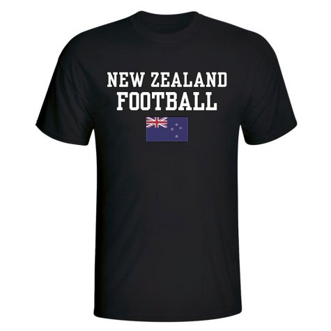 New Zealand Football T-Shirt - Black