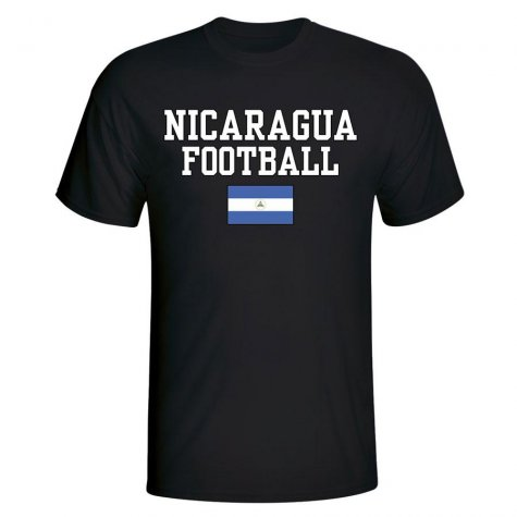 Nicaragua Football T-Shirt - Black
