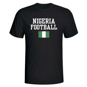 Nigeria Football T-Shirt - Black