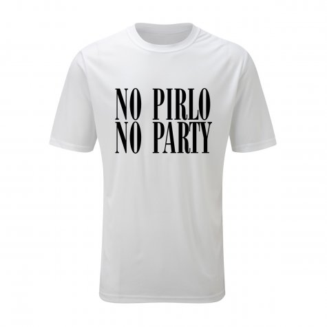 No Pirlo No Party T-Shirt (White)
