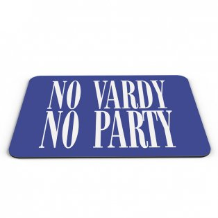 Leicester City No Vardy No Party Mouse Mat (Blue)