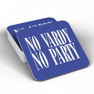 Leicester City No Vardy No Party Coaster (Blue)