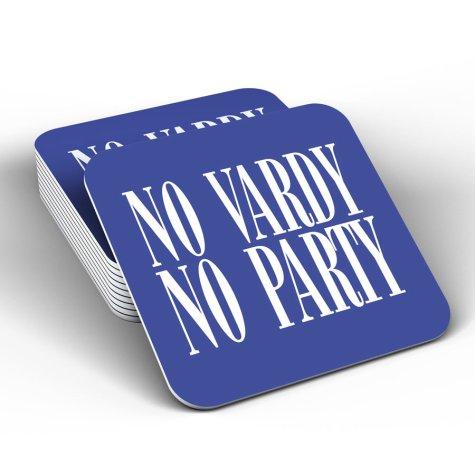 Leicester City No Vardy No Party Coaster (Blue)