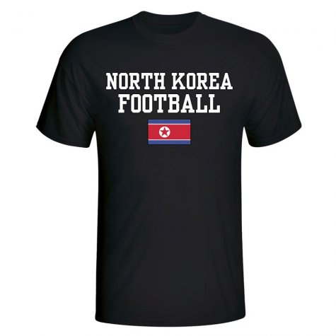 North Korea Football T-Shirt - Black