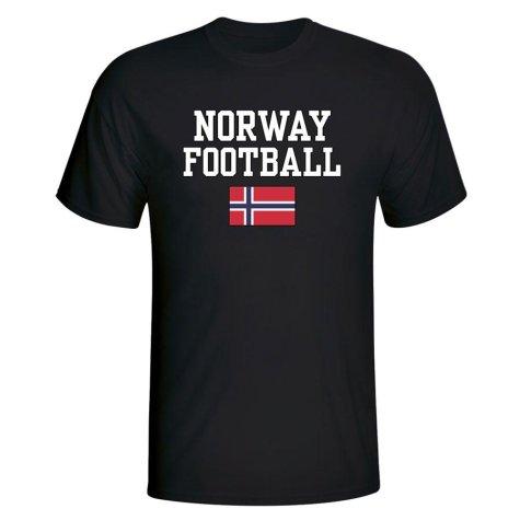 Norway Football T-Shirt - Black