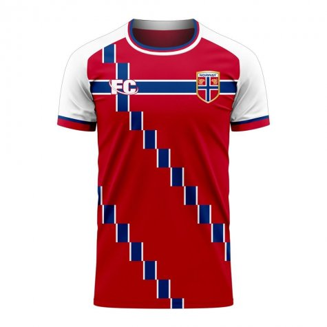 Norway 2020-2021 Home Concept Football Kit (Fans Culture)