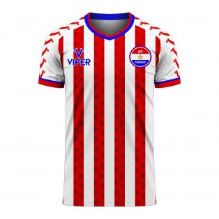 Paraguay 2020-2021 Home Concept Football Kit (Viper) - Womens
