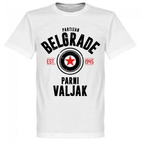 Partizan Belgrade Established T-Shirt - White