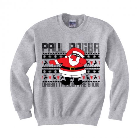 Paul Pogba Christmas Dabbin Jumper (Grey) - Kids