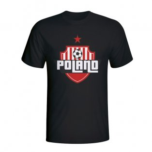 Poland Country Logo T-shirt (black) - Kids