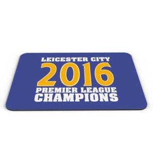 Leicester City 2016 Premier League Champions Mouse Mat (Blue)