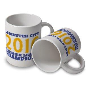 Leicester City 2016 Premier League Champions Mug (White)