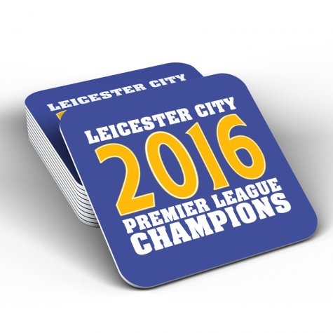 Leicester City 2016 Premier League Champions Coaster (Blue)