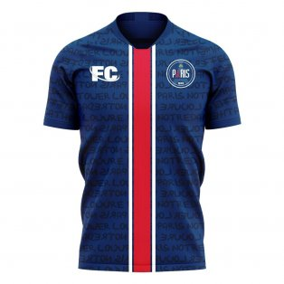 Paris 2020-2021 Home Concept Football Kit (Fans Culture) - Kids