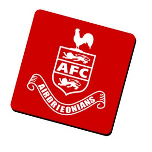 Airdrieonians Official Coaster (Red)