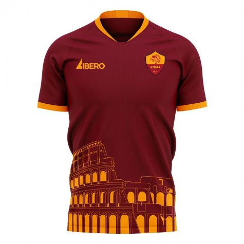 Roma 2020-2021 Home Concept Football Kit (Libero) - No Sponsor