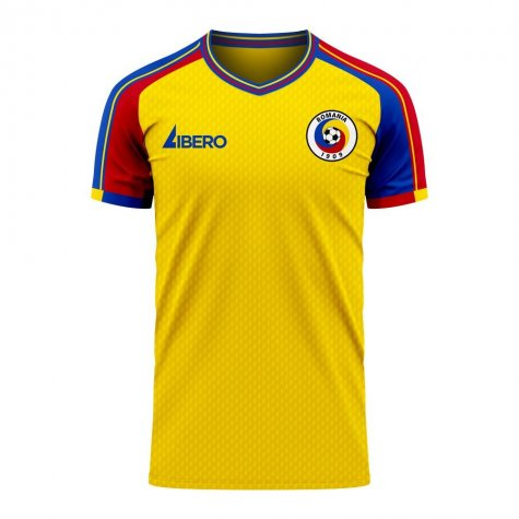 Romania 2020-2021 Home Concept Football Kit (Libero) - Baby