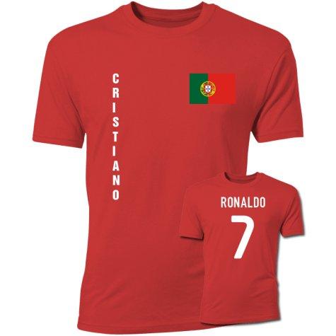 Cristiano Ronaldo Portugal Flag T-Shirt (Red)