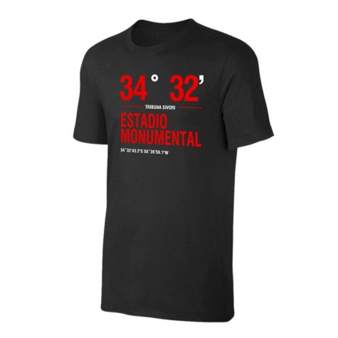 River Plate \'Stadium Coordinates\' t-shirt - Black