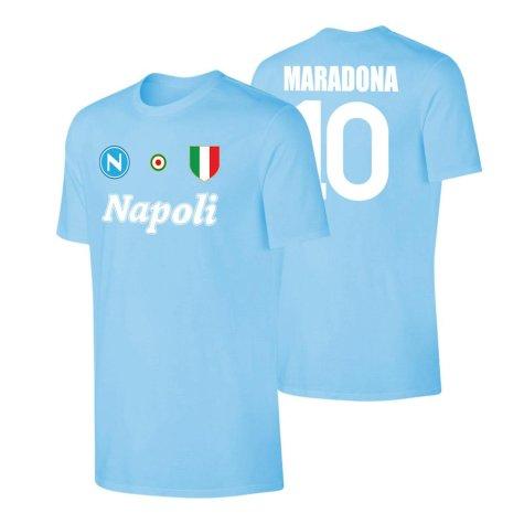 Napoli \'Vintage 86/87\' t-shirt MARADONA - Light blue