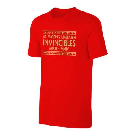 The Invincibles 49 Unbeaten T-Shirt (Red)