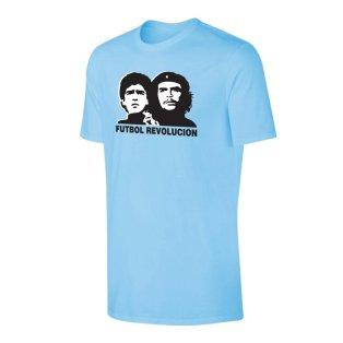 Futbol Revolution Maradona Che Guevara t-shirt - Light blue