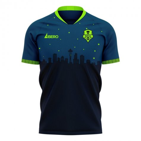 Seattle Sounders 2020-2021 Away Concept Football Kit (Libero) - Kids