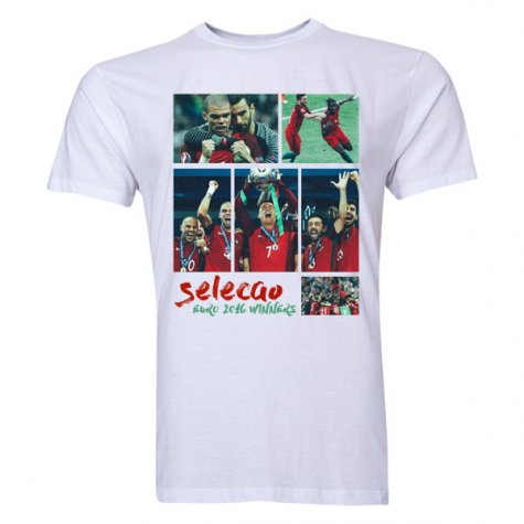 Portugal Selecao Euro 2016 Winners T-Shirt (White)