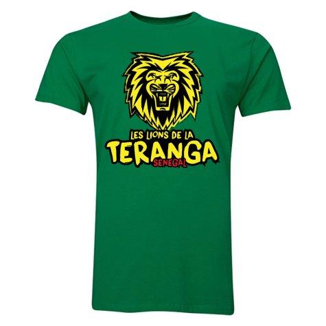 Senegal Les Lions De La Teranga T-Shirt (Green)