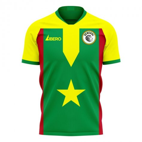 Senegal 2020-2021 Home Concept Football Kit (Libero)