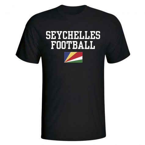 Seychelles Football T-Shirt - Black