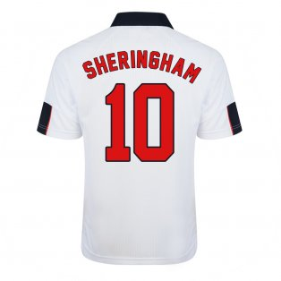 Score Draw England World Cup 1998 Home Shirt (Sheringham 10)