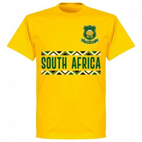 South Africa Rugby Team T-shirt - Yellow