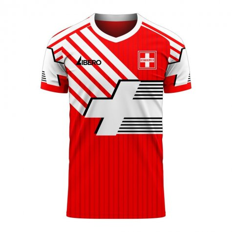 Switzerland 2020-2021 Retro Concept Football Kit (Libero)