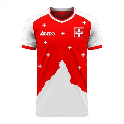 Switzerland 2020-2021 Home Concept Football Kit (Libero) - Womens