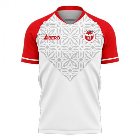 Tunisia 2020-2021 Home Concept Football Kit (Libero) - Little Boys
