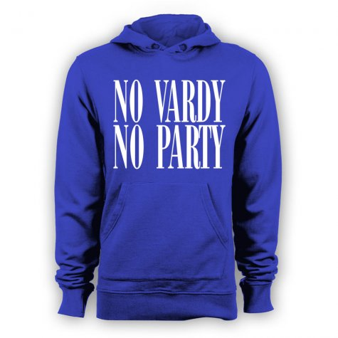 Leicester City No Vardy No Party Hoody (Blue)