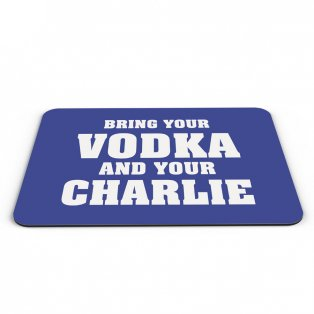 Leicester City Vodka and Charlie Mouse Mat (Blue)