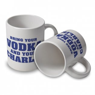 Leicester City Vodka and Charlie Mug (White)