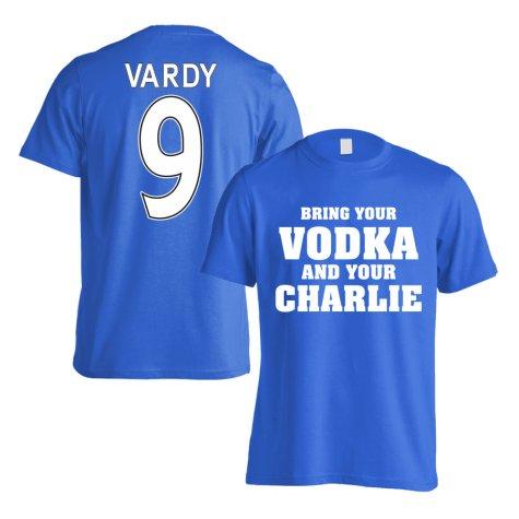 Leicester Jamie Vardy Vodka Charlie T-Shirt (Vardy 9) - Blue