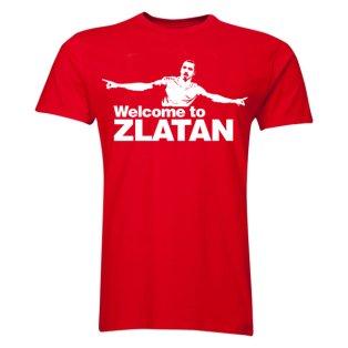 Zlatan Ibrahimovic Welcome to Manchester T-shirt (Red) - Kids