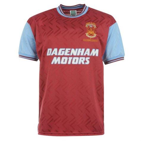 Score Draw West Ham 1994 No6 Home Shirt