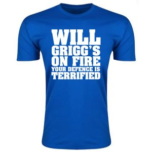 Will Griggs On Fire Your Defence Is Terrified T-Shirt (Royal Blue)